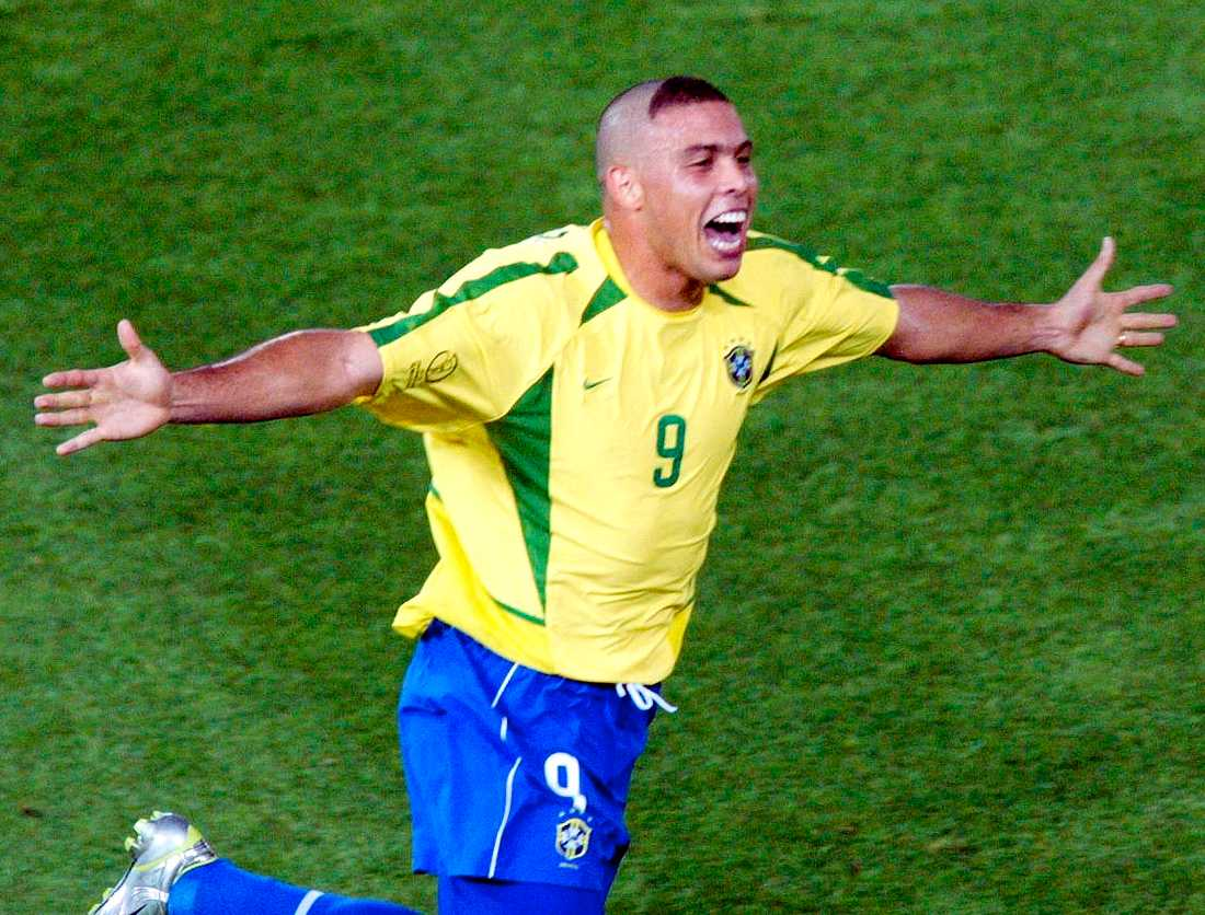 Ronaldos uppmärksammade frisyr under VM 2002.
