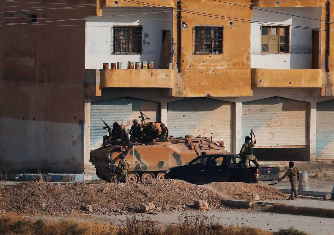 Syriska oppositionsstyrkor som stöttas av Turkiet.