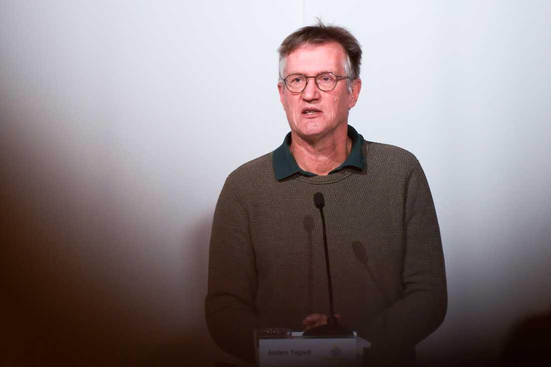Statsepidemiolog Anders Tegnell hoppas att dödstalen kommer att kunna bromsas genom vaccineringen av äldre. Arkivbild.