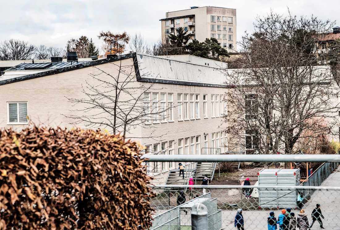 Al-Azhar, muslimsk friskola i västra Stockholm. Arkivbild.