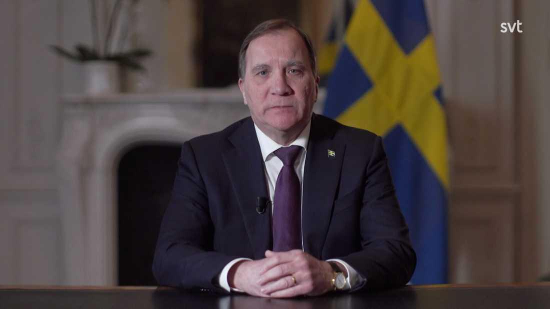 Stefan Löfven höll tal till nationen med anledning av coronaviruset.