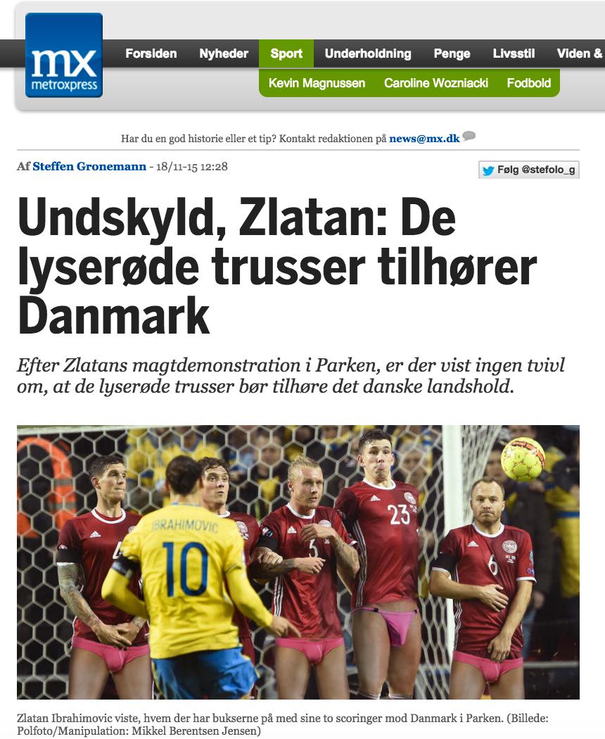 Tidningens ursäkt till Zlatan.
