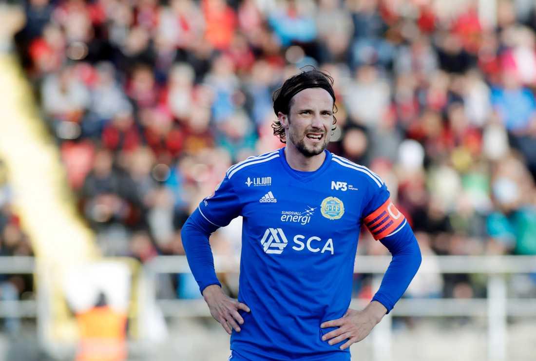 Gif Sundsvall hoppas få tillbaka Linus Hallenius. Arkivbild.