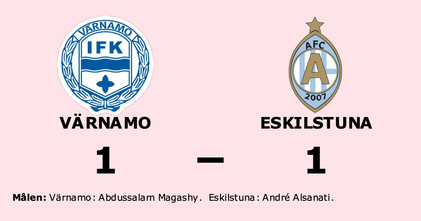 Stark insats när Eskilstuna tog poäng borta mot Värnamo