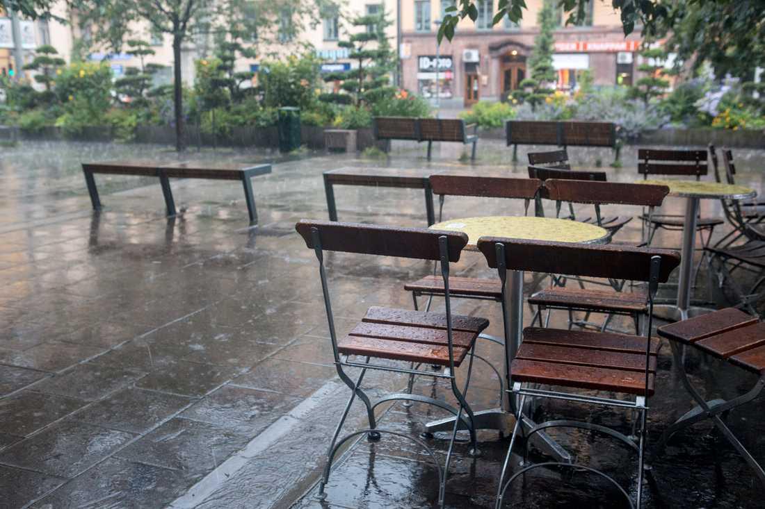 Svalt, och en och annan regnskur, väntar i veckan. Arkivbild.