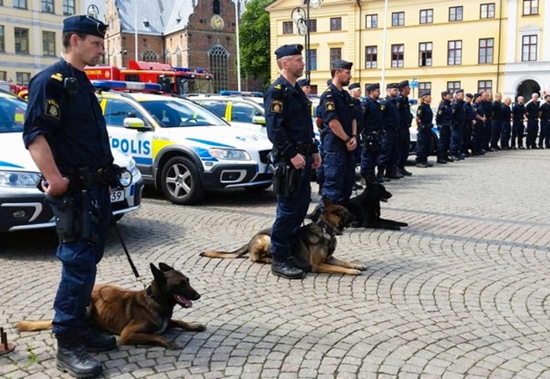 Poliser i Kristianstad.