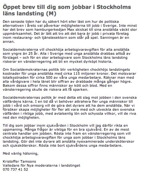 Brevet till medarbetarna i Stockholms läns landsting http://www.sll.se/sll/templates/PressReleasePage.aspx?id=67276