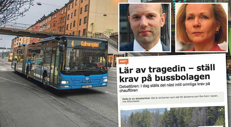 Vi är förvånade över att NTF i debatt går hårt ut kring bussbranschens säkerhetsfrågor och bältesanvändning, skriver Mattias Dahl och Anna Grönlund.
