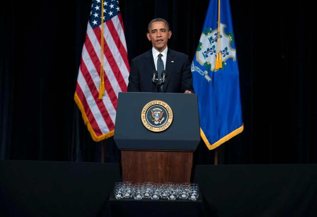 President Obama talade till föräldrar och överlevare i Newtown.