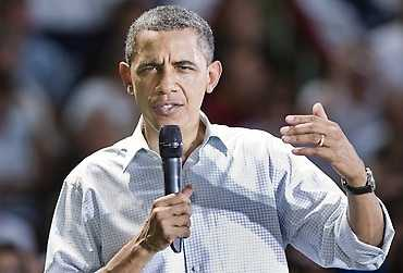 Obama i talartagen.