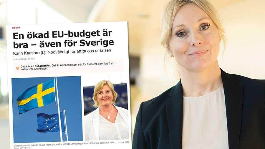 Vi är lika tydliga som Liberalerna, fast med diametralt motsatt budskap. Den skenade ökningen av Sveriges EU-avgift måste helt enkelt stoppas. Det är ytterst problematiskt att svenska politiker finner sig i denna utveckling, skriver Jessica Stegrud från SD.