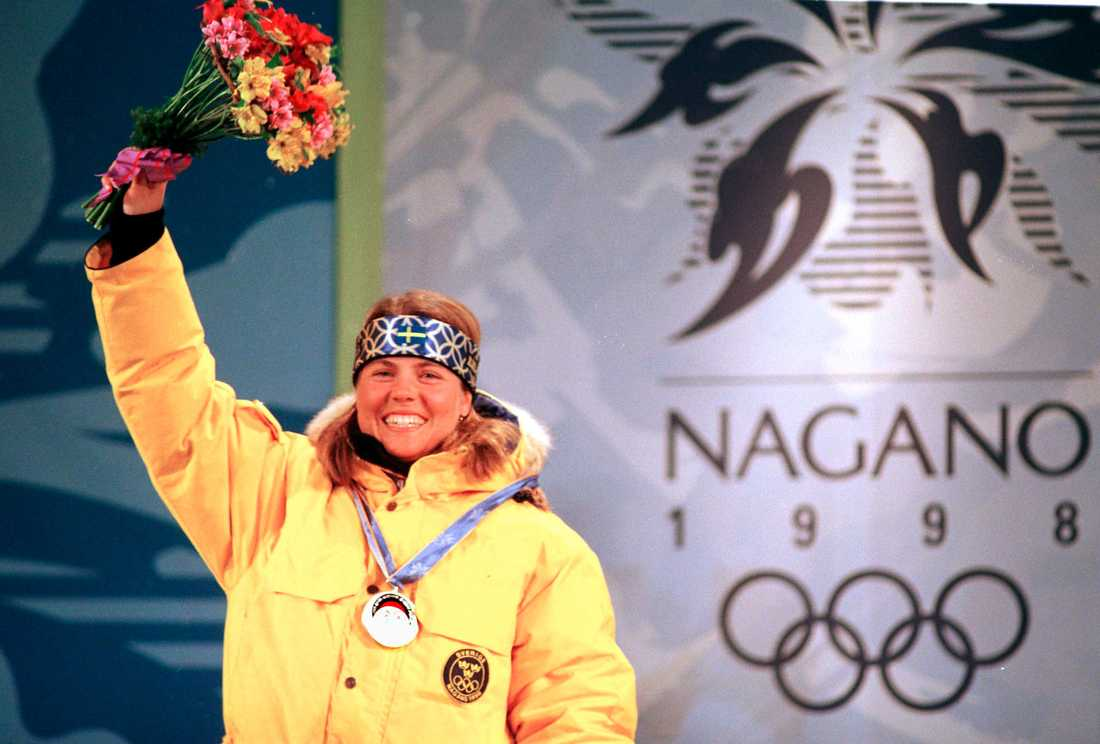 Pernilla Wiberg, här i nagano-OS 1998.