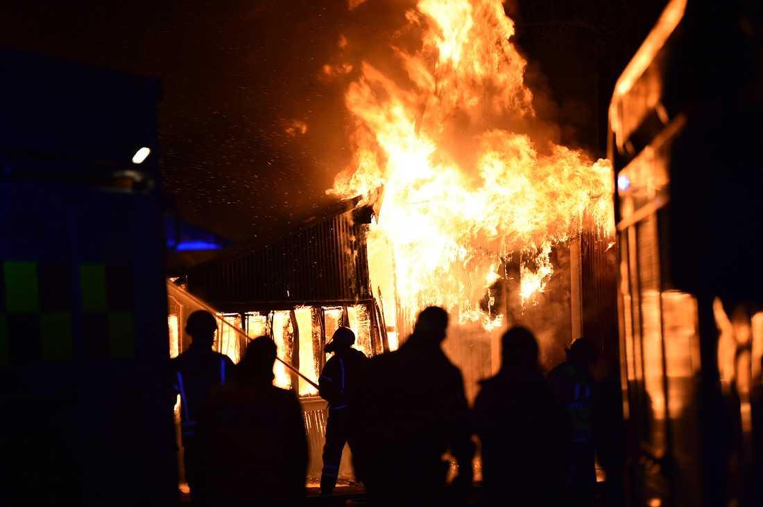 Dansbanan i Kågeröd brann ner.