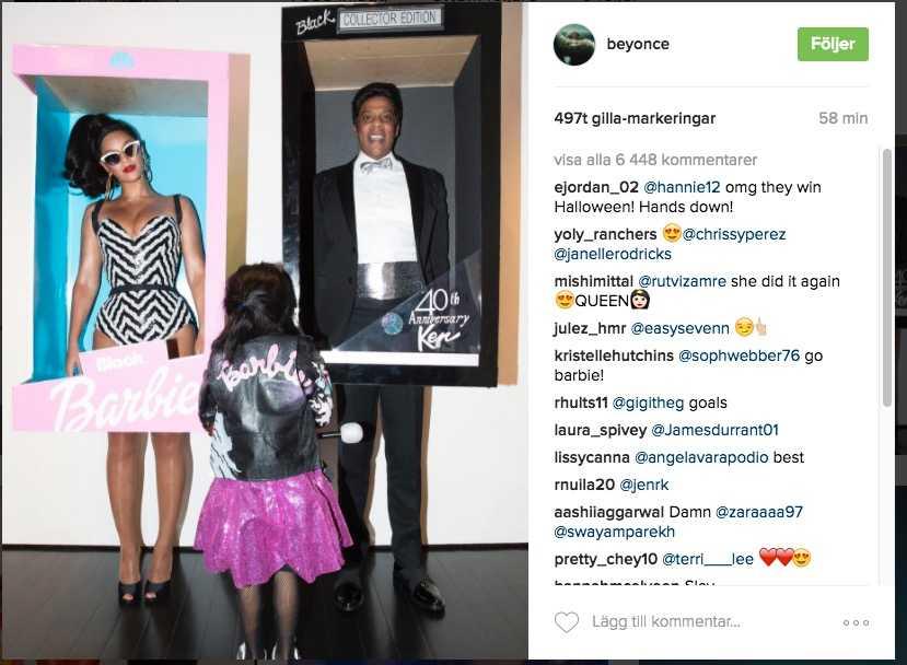 Familjen Beyonce, Blue Ivy Carter och Jay-Z.