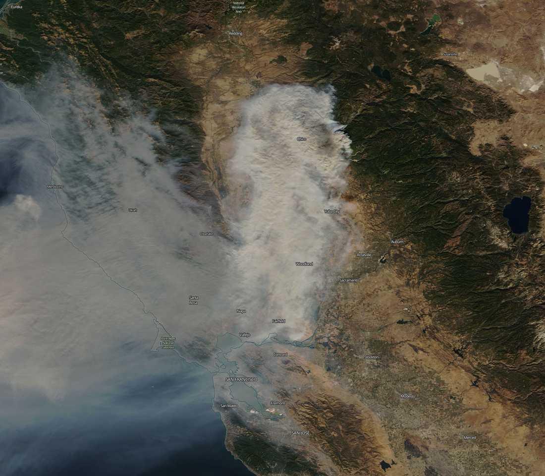 Bränderna i Chico, Californien, 9 november