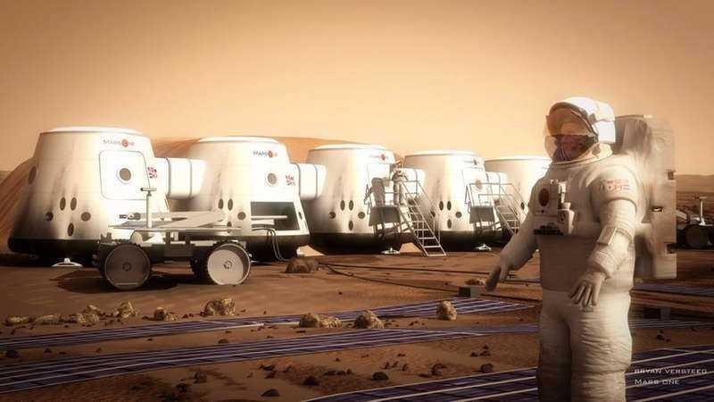 Så här är det tänkt att boendet ska se ut på Mars. Om allt går som planerat kommer de första människorna att flytta till planeten 2022. I första vända kommer de att vara fyra personer som åker, därefter fylls det på med fyra nya vartannat år.