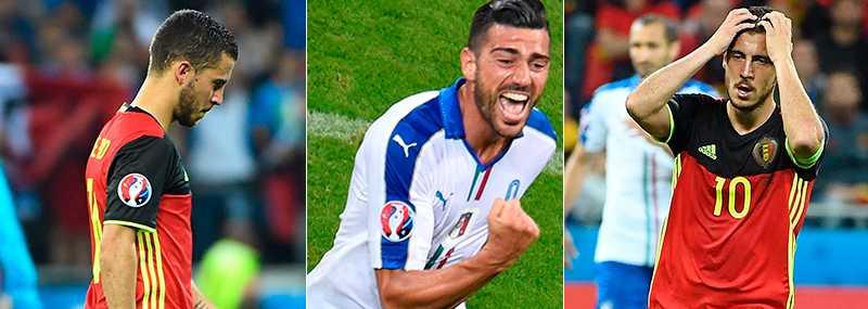 Hazard inledde med att undvika media efter förlusten mot Italien