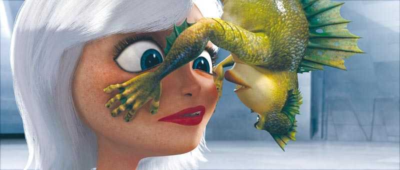 """Hjältinnan Susan – som är den stora behållningen i """"Monsters vs. aliens"""" – har fått nåt i ansiktet."""