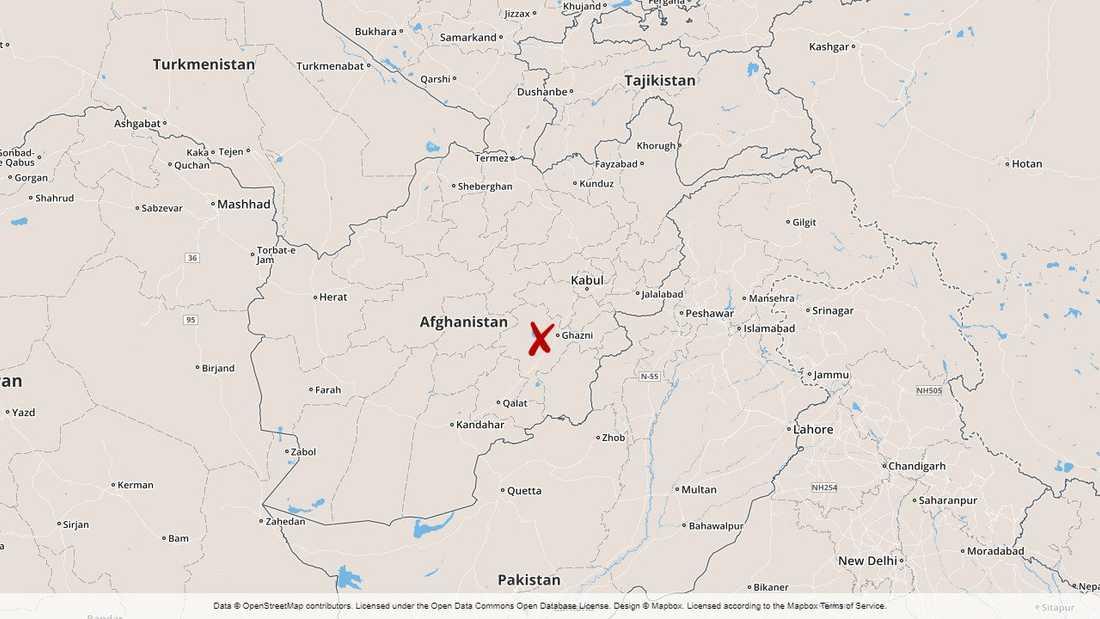Provinsen Wardak i Afghanistan.