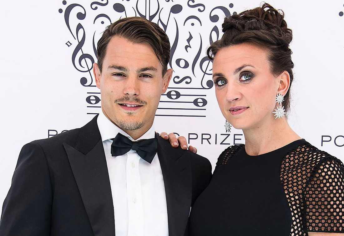 Simon Sköld och Camilla Läckberg har dottern Polly ihop.