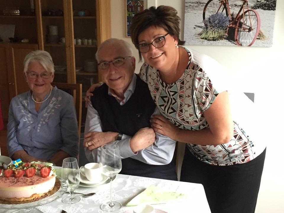 Göran tillsammans med sin dotter Ingel och sin fru Margit.
