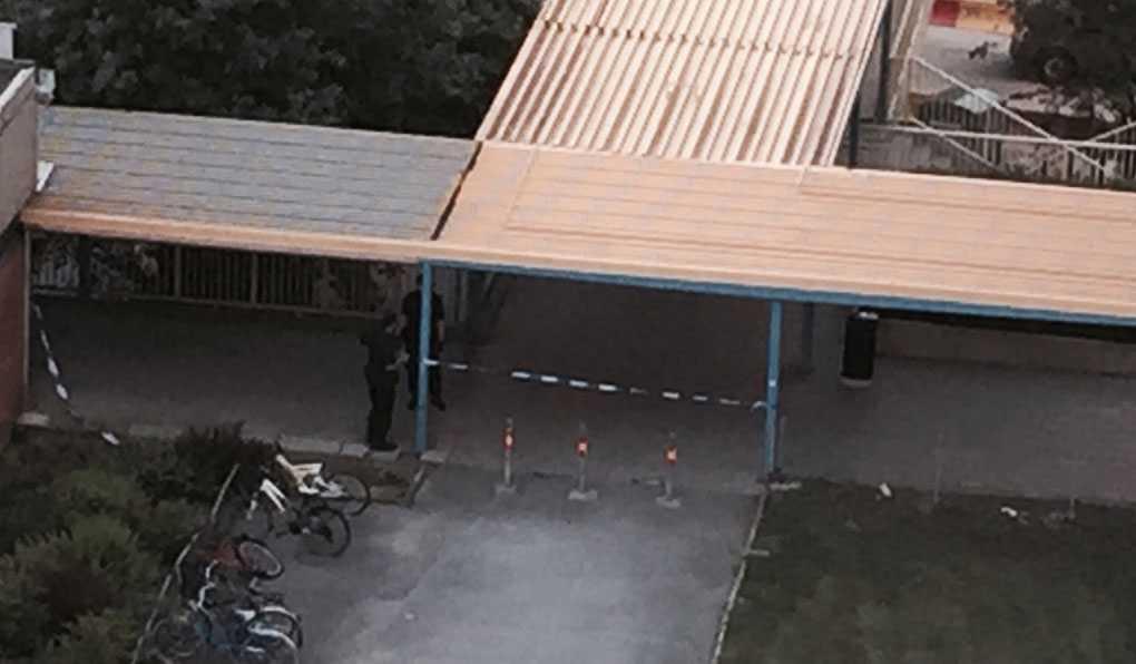 Poliser på plats efter larm om skottlossning.