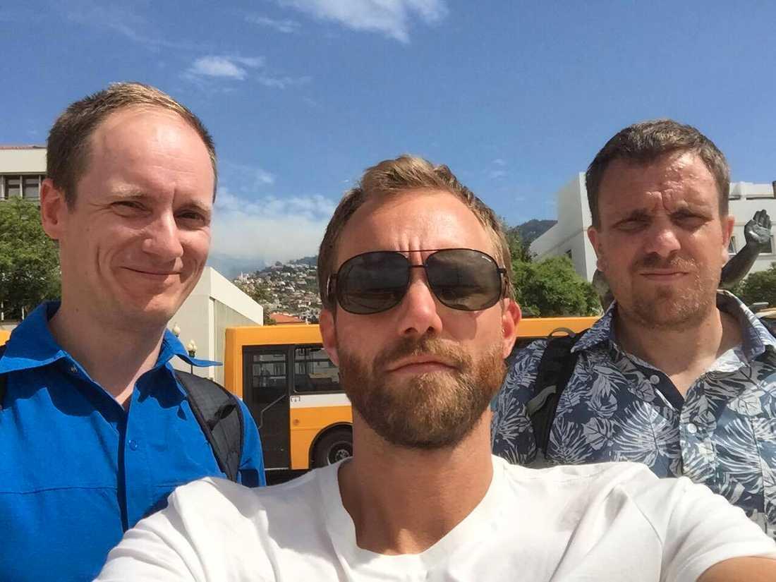 Anders Mattsson, Jonas Pernstrand och Tomas Andersson i Funchal.