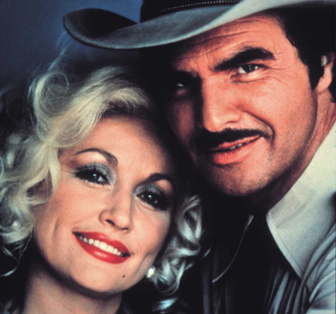 Dolly Parton och Burt Reynolds.