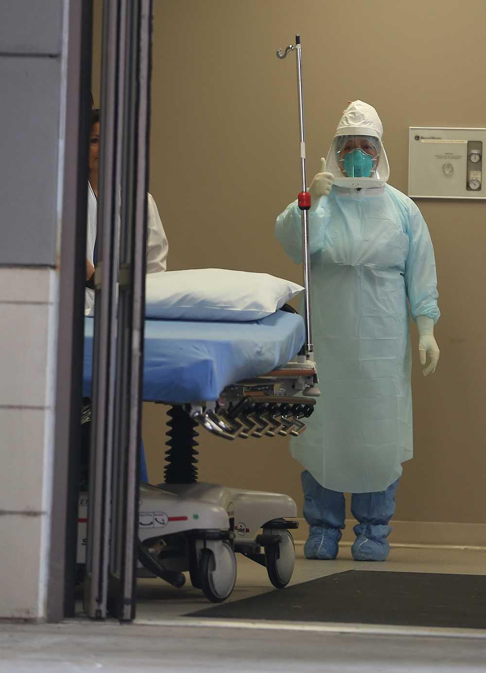 Sjukvårdspersonal på Texas Health Presbyterian Hospital.