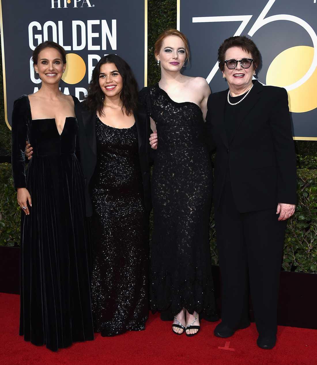 Flera kändisar visade sin sempati med Time's Up under Golden Globe.