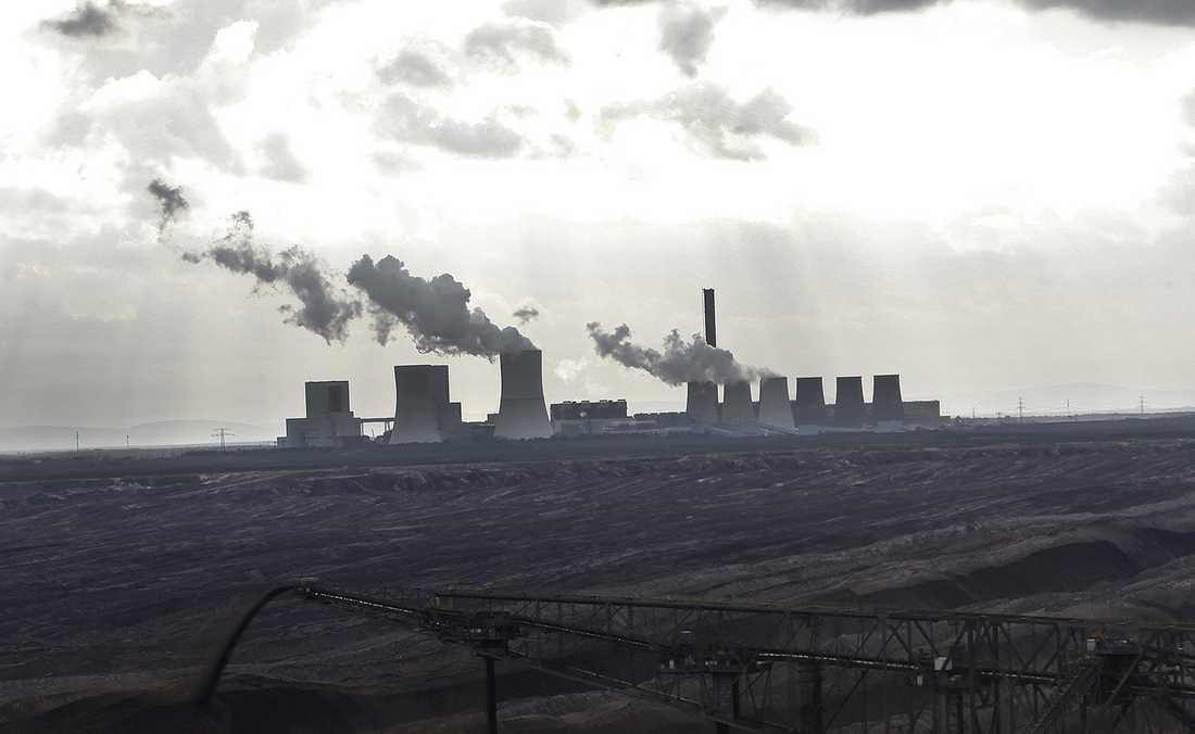 Vattenfalls kolgruva Tagebau nochen utanför Weissvasser.