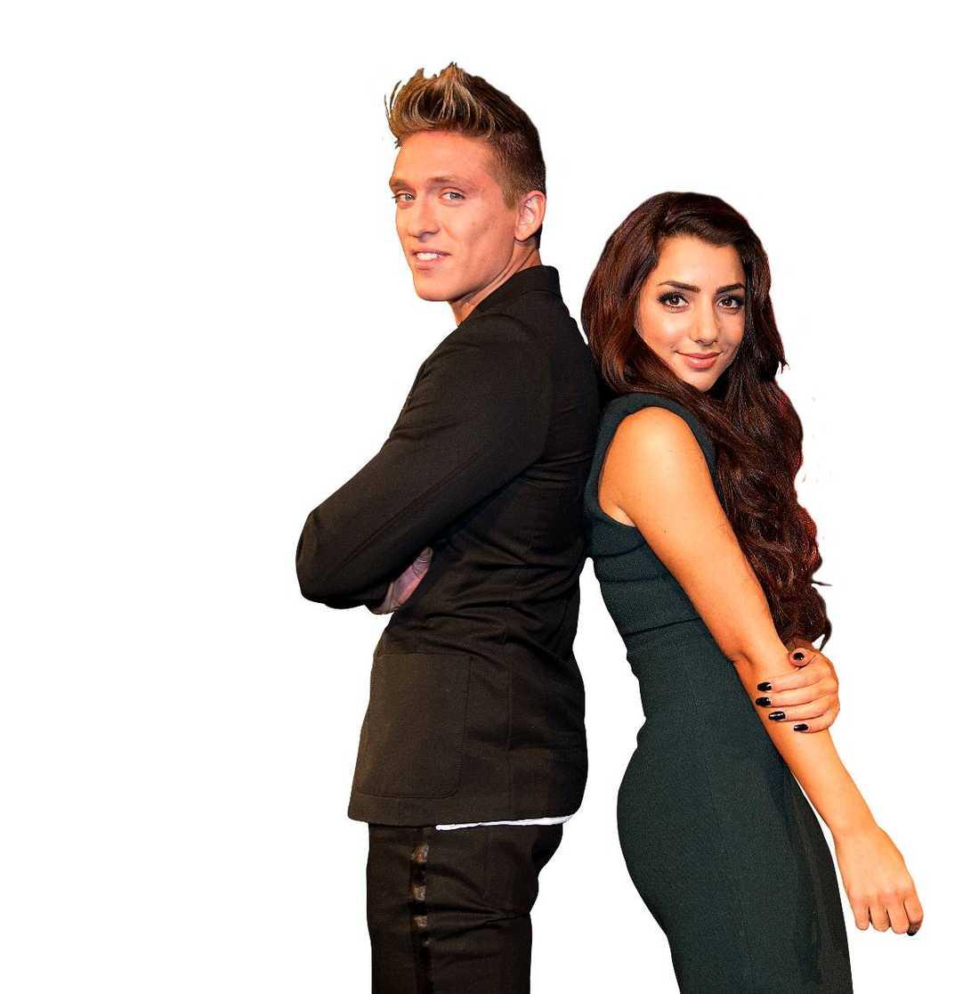 Schlagerduon  Under gårdagen presenterades (precis som Nöjesbladet tidigare avslöjat) Danny Saucedo och Gina Dirawi som programledare för Melodifestivalen.