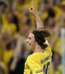 Zlatan Ibrahimovic knep sjätteplatsen.