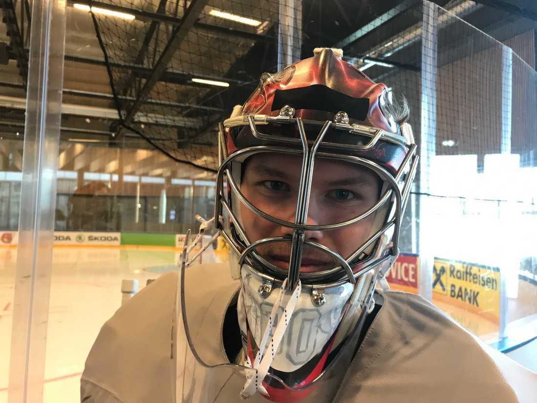 Filip Gustavsson är tredjemålvakt i Tre Kronor.