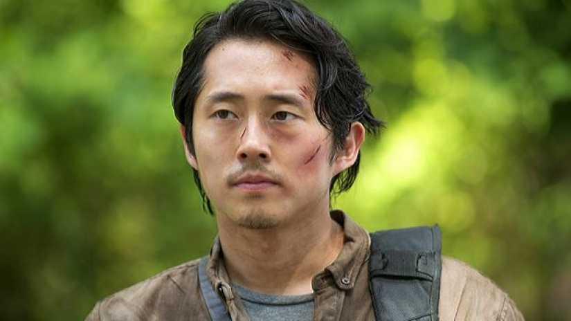 """Steven Yeun i """"The Walking dead""""."""