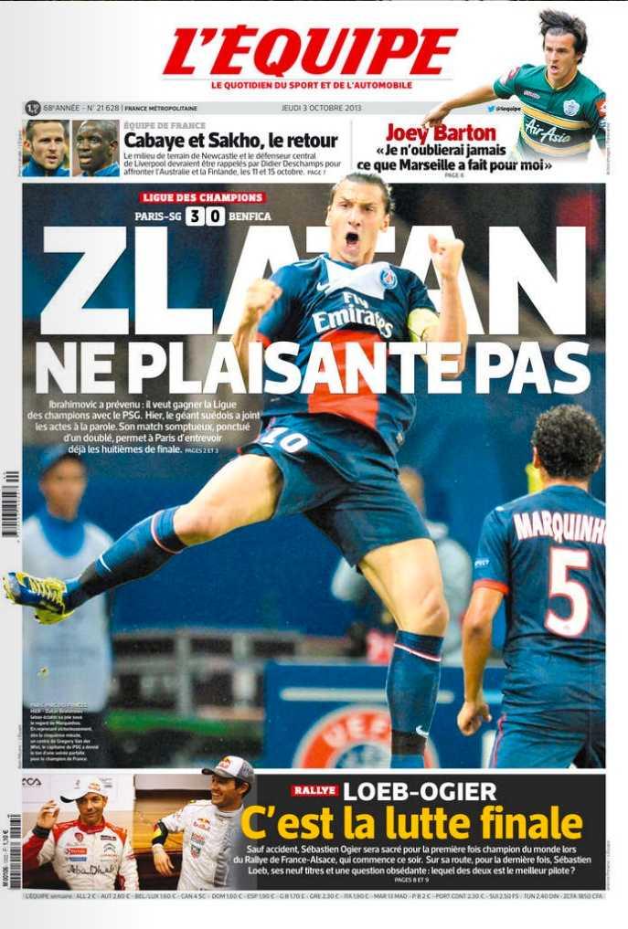Dagens L'Equipe.