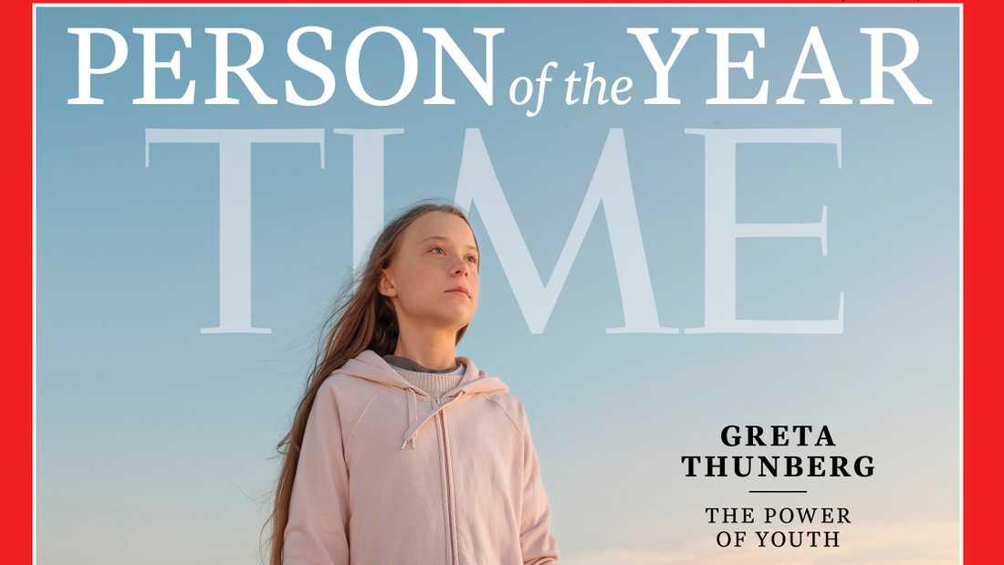 Greta Thunberg på omslaget till Time.