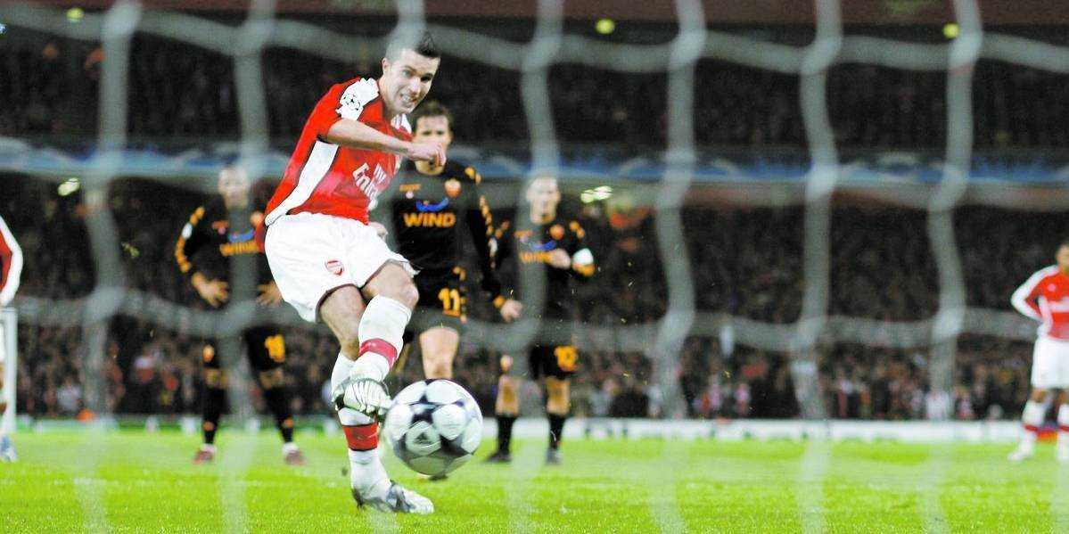 Robin van Persie låg bakom Arsenals seger.