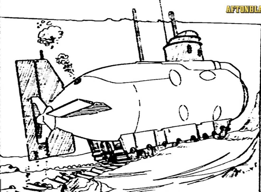 En skiss över hur ubåten kan ha sett ut.