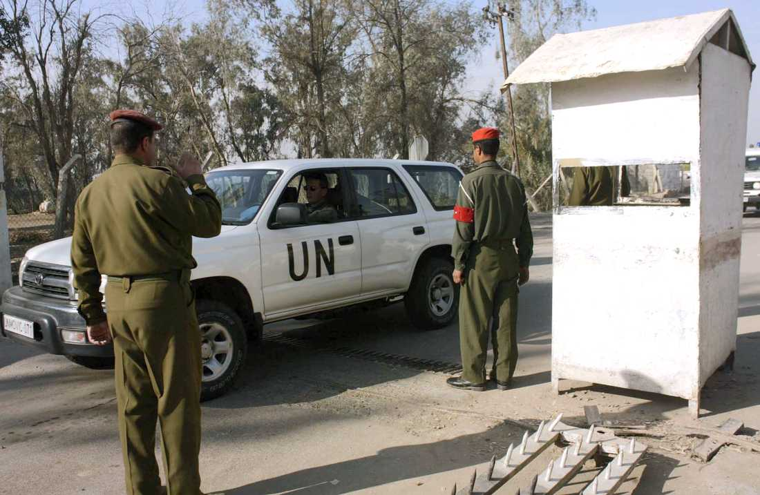 Arkivbild från FN-basen i Taji.