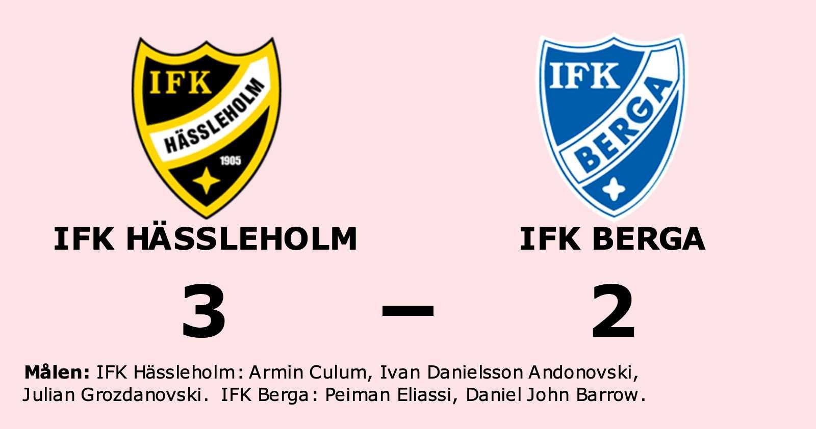 Peiman Eliassi och Daniel John Barrow målskyttar när IFK Berga föll