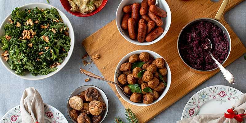 Vegetariska favoriter på julbordet.