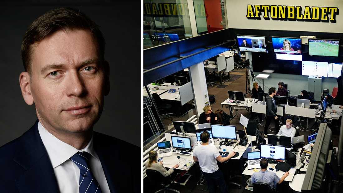 Raoul Grünthal, vd för Aftonbladets ägarbolag Schibsted Media.