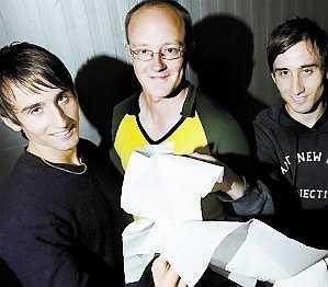 Jakob, Andreas och Erik.