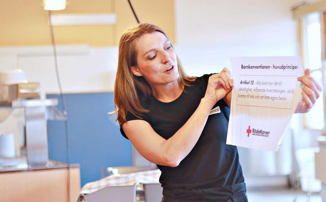 Isabel Exposito på Röda Korsets ungdomsförbund
