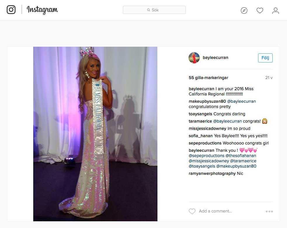 Enligt TMZ är det Miss Kalifornien 2016, Baylee Curran, som anmält att hon hotats med pistol av Chris Brown.