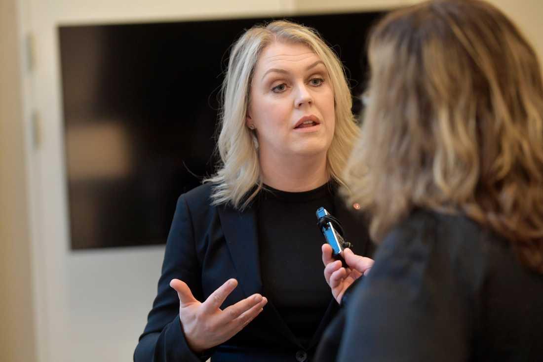Lena Hallengren, socialminister (S)