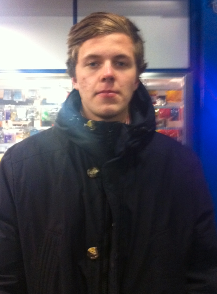 Max Alm, 17, blev vittne till dramat.