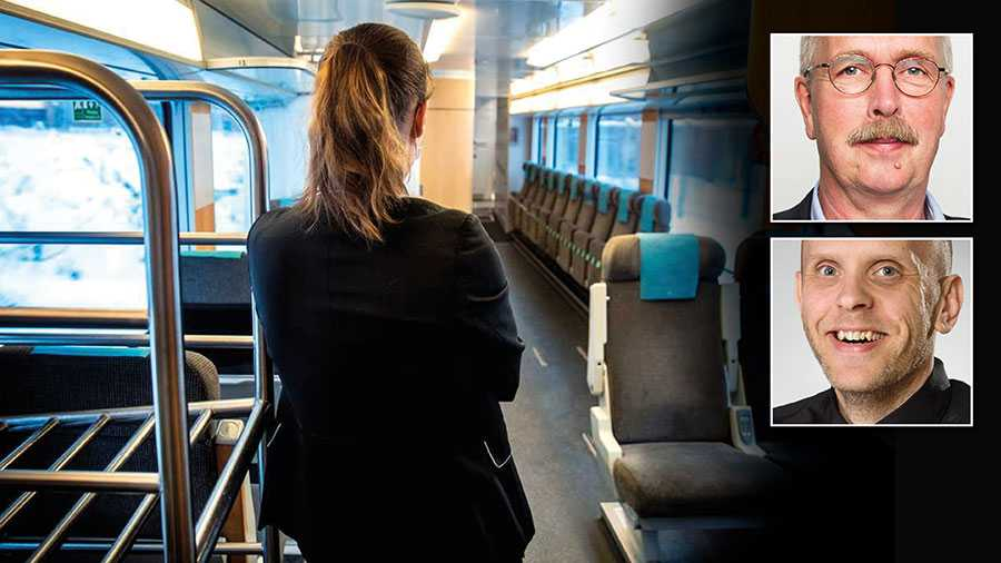 Ofta befinner sig tågvärdar ensamma ute i tåget och blir därför extremt utsatta när resenärer är hotfulla och våldsamma. Som ensam ombord på tåget finns inget skydd, ingen som kan stötta, skriver Valle Karlsson och Martin Alnebring.