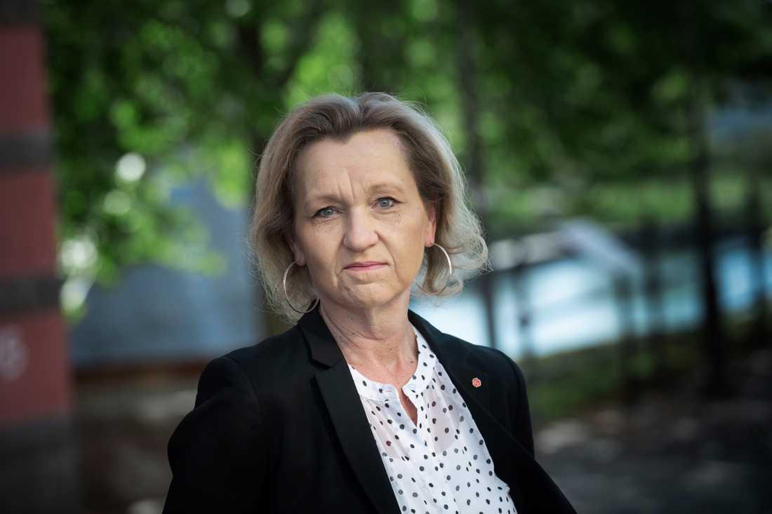 Boel Godner (S) kritiserar ebo-lagen och reglerna för arbetskraftsinvandring, som hon menar är för generösa. Arkivbild.